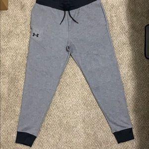 Under Armour fleece joggers XL gray/black trim